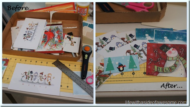 Old Christmas Card project