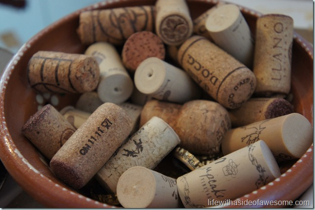 bowl of corks
