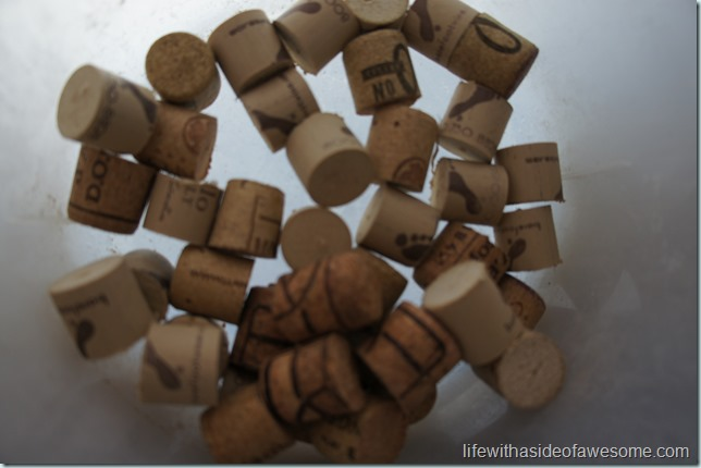 corks cut in half