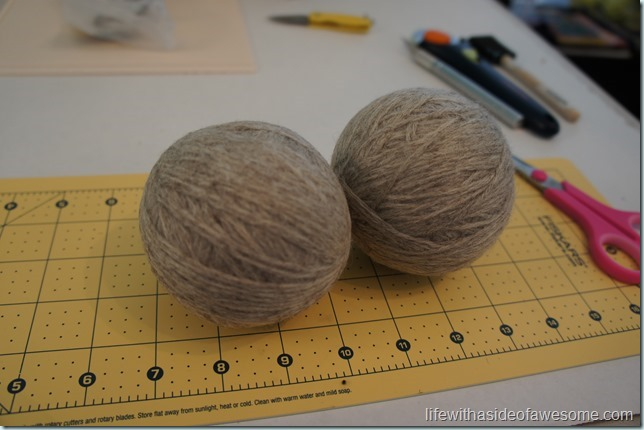 wool dryer balls part 1